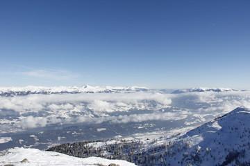 Top Of Gold Corner 2142m Spittal Carinthia Austria In Winter