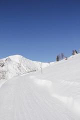 Winter Landscape Way To Top Of Gold Corner 2142m
