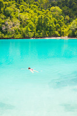 Snorkeling in a wonderful blue lagoon