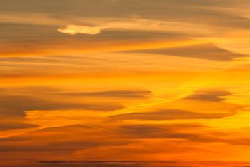 Dramatic fire sunset
