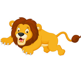 Cartoon lion jumping