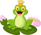 Cartoon king frog