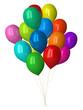 Many multicolor glossy balloons