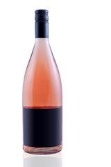 Rose Wein Flasche schwarze Fläche für Text