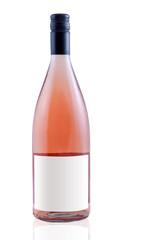 Rose Wein Flasche weiße Fläche für Text