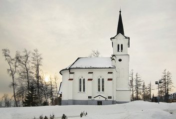 Evangelical churchin Novy Smokovec.  High Tatras. Slovakia