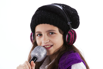 Female child singing