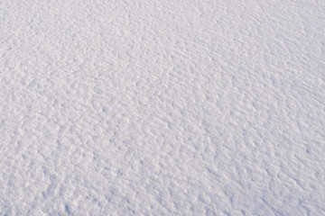 Fresh Snow Surface Showing Natural Texture and Pattern
