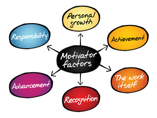 Motivator factors diagram, business concept