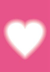 Valentine pink vignette heart vertical
