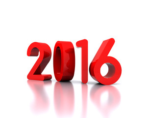 Here comes the new year ... 2016 - 3D