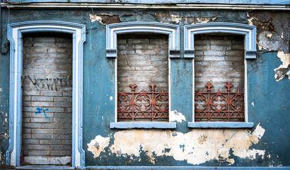 old abandoned building facade in cork city, Ireland