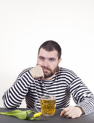 Brutal man with a beer longs for love