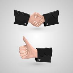 Icon handshake and cool