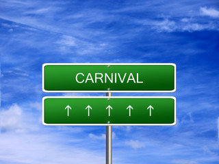 Carnival Party Background Sign