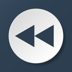 Glossy multimedia icon  forward