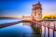 Leinwanddruck Bild - Belem Tower in Lisbon, Portugal