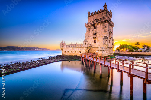 Leinwanddruck Bild Belem Tower in Lisbon, Portugal