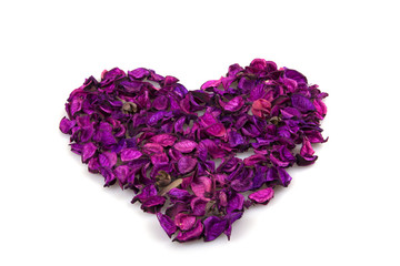 Floral heart isolated