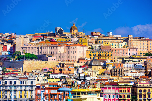 Papiers peints Hong-Kong Cagliari, Sardinia, Italy Skyline