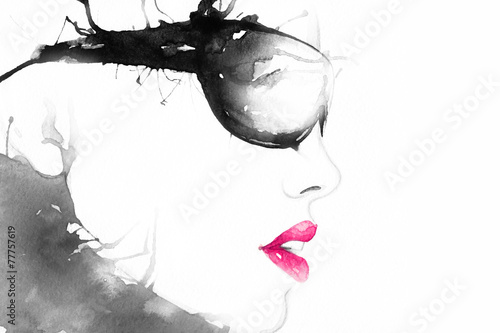 woman in glasses. art portrait .fashion background © Anna Ismagilova