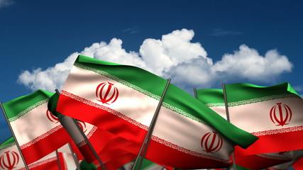 Waving El Iranian Flags