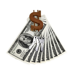 keys and dollars