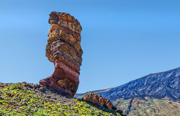 Stone column in the mountains of Tenerife