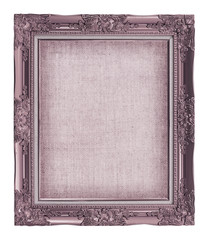 picture frame with empty grunge linen canvas for your picture, p