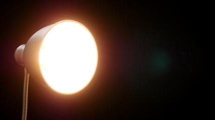 LED lamp. 4K UHD 2160p footage.