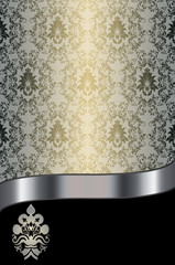 Decorative background with elegant patterns.