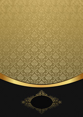 Decorative background with gold ornament.
