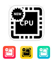 New CPU icon. Vector illustration.