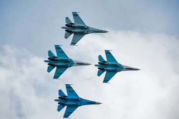 "Flight group ""Falcons of Russia"" on Su-27"