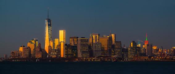Panorama view of Manhattan skyline in NYC