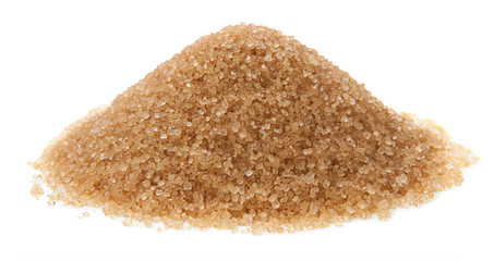 Cane sugar isolated on white background