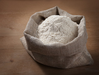 A sack of flour on the board