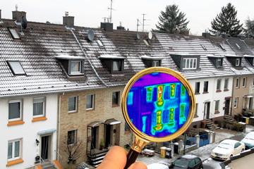 Wärmebild, Wärmedämmung, Hausisolierung