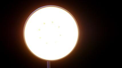 Floor lamp. 4K UHD 2160p footage.