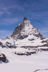 Matterhorn during winter, Switzerland