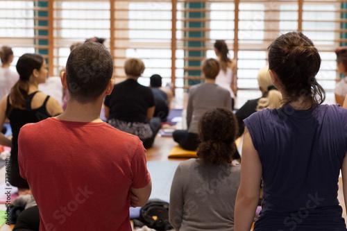 Papiers peints Individuel yoga class