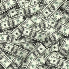 Background of hundred-dollar bills.
