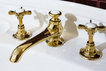 beautiful bronze taps