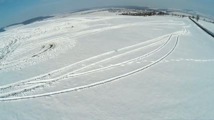 trace on snow