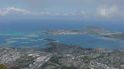 Kaneohe from above hawaii