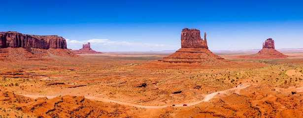 Buttes of Monument Valley, Utah, USA, panoramic view