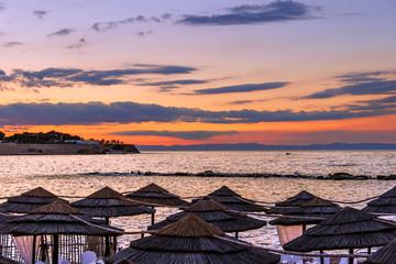 ESTATE,Costa adriatica al tramonto:Bisceglie.ITALIA(Puglia)