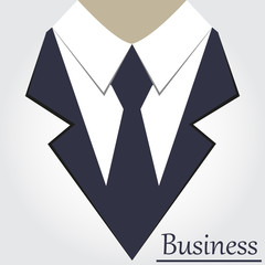 Icon of the classic suit, business vector illustration