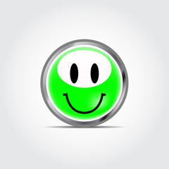 Icon smile with shadow on gray background vector illustration