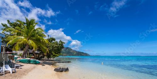 Poster Oceanië Plage polynésienne